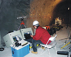 Seismic measurements characterise excavation damaged zones in clay rock (Mont Terri Rock Laboratory, Switzerland).