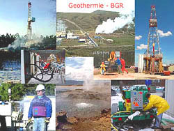 Collage of various geothermy projects at the Federal Institute for Geosciences and Natural Resources