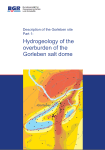 "Cover ""Hydrogeology of the overburden of the Gorleben salt dome"""