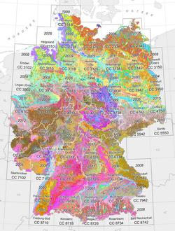 Geologische Karte Thüringen.Bgr Projekte Bodenübersichtskarte 1 200 000 Bük200