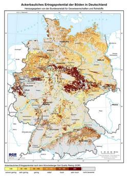 bodenpunkte karte deutschland BGR   Ertragspotential