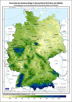 jahresniederschlag deutschland karte BGR   R Faktor   Erosivität der Niederschläge (R Faktor) jahresniederschlag deutschland karte