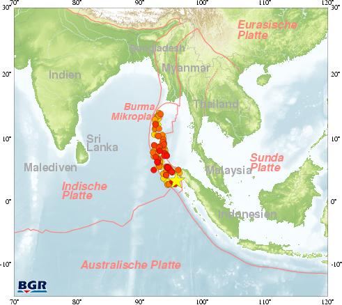 Tsunami 2004 Sri Lanka Karte.Bgr Erdbebenüberwachung Schweres Seebeben Vor Der Indonesischen