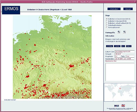 Erdbeben Deutschland Karte.Bgr Erdbebenuberwachung Erdbeben In Deutschland