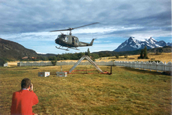 Helikopter-Radarmessungen in Patagonien / Chile