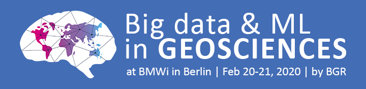 Logo Big data and machine learning in Geosciences Conference at BMWi in Berlin, 20-21 Feb 2020 by BGR