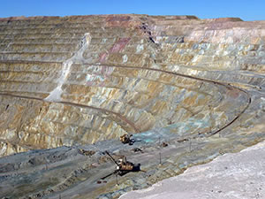 Kounrad Copper Mine, Region Balkhash, Kasachstan
