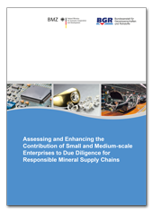 "Titelblatt der Studie ""Assessing and Enhancing the Contribution of Small and Medium-scale Enterprises to Due Diligence for Responsible Mineral Supply Chains"""
