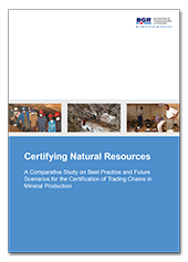 "Titelblatt der Studie ""Certifying Natural Resources"""