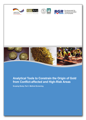 "Titelblatt der Studie ""Analytical Tools to Constrain the Origin of Gold from Conflict-Affected and High-Risk Areas"""