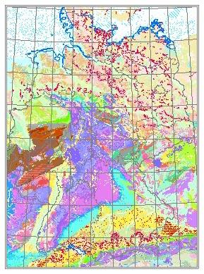 geologische karte deutschland BGR   Geologie 1 : 1 000 000   Geologische Karte der  geologische karte deutschland