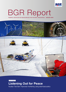 Title page of BGR Report 2018 - Federal Institute for Geosciences and Natural Resources