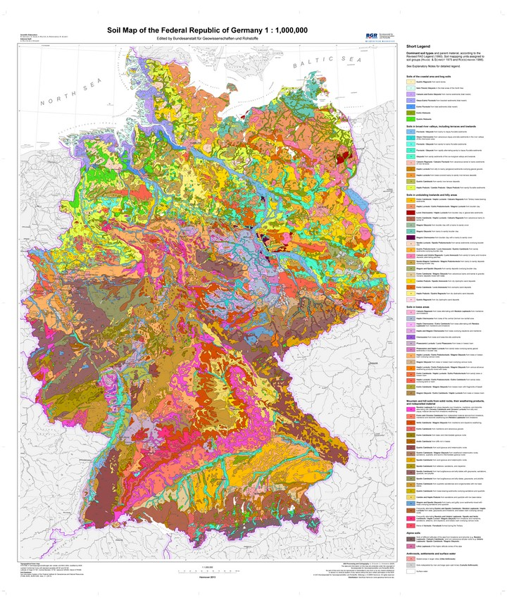 BGR - Projects - Soil Map of Germany 1:1,000,000 (BÜK1000)
