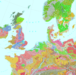 Soil Regions Map of the European Union and Adjacent Countries (Extract)