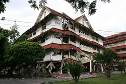 Collapsed University Building in Bantul/Yogyakarta on the island of Java (Indonesia)