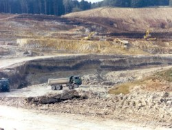 Mining clay in the Westerwald region of Germany