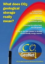 "Cover: CO2GeoNet brochure "" What does CO2 geological storage really mean?"""