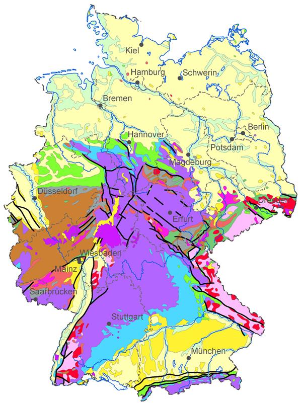 Map Of Deutschland Germany.Bgr Germany