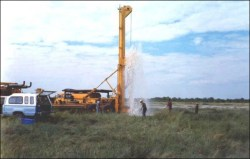 Drilling a well in the Etosha National Park