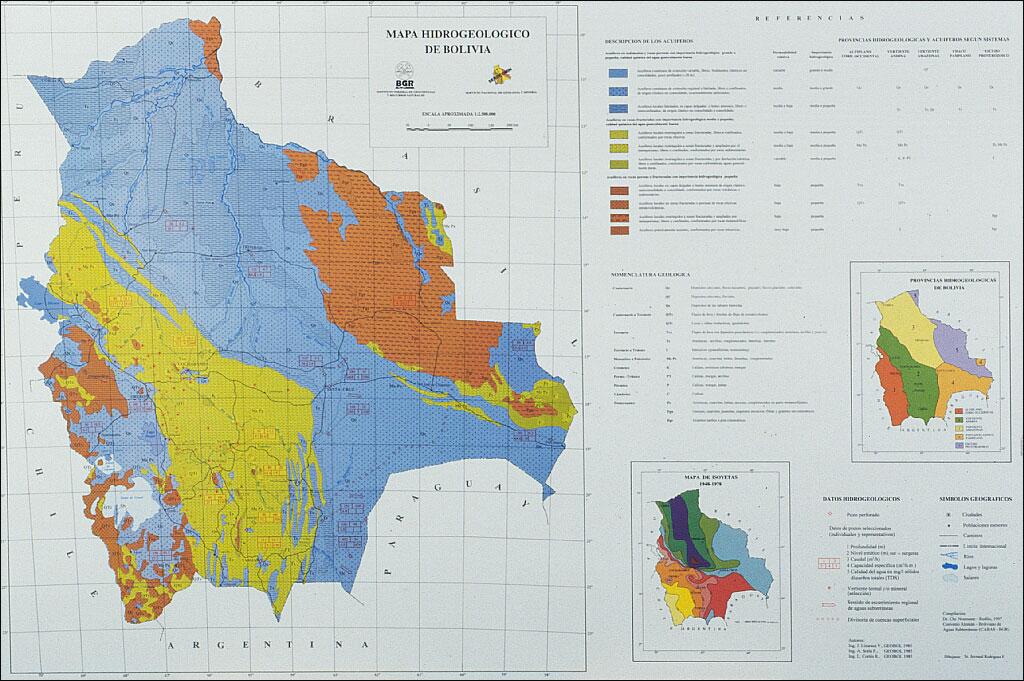 BGR Hydrogeological Map of Bolivia 1 : 2,500,000