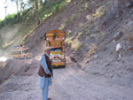 Ein Georisiko in Nord-Pakistan sind Hangrutschungen