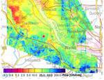 Scheinbarer spezifischer Widerstand für die Messfrequenz 8 kHz, Messgebiet Glückstadt