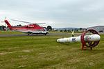 Hubschrauber mit Sonde